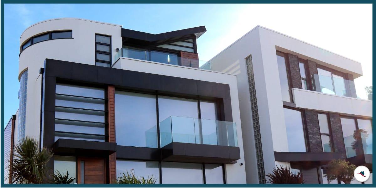 Immobilienmakler Provision modernes Haus