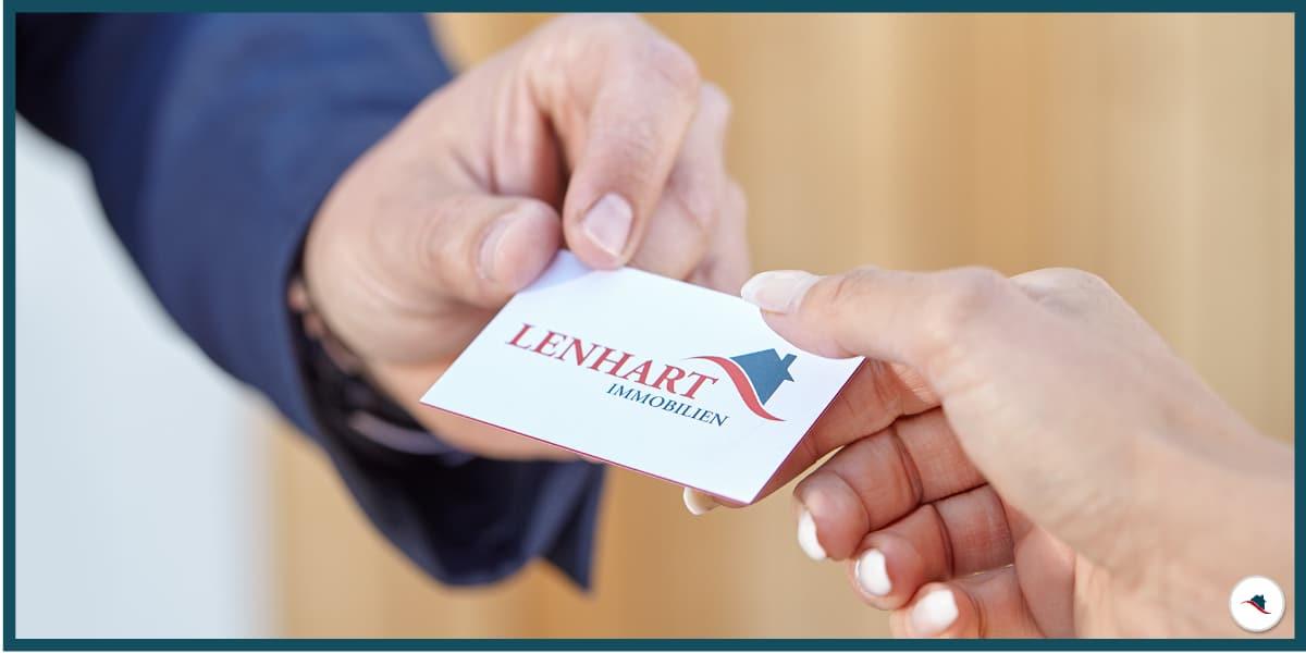 Lenhart Immobilien Visitenkarte